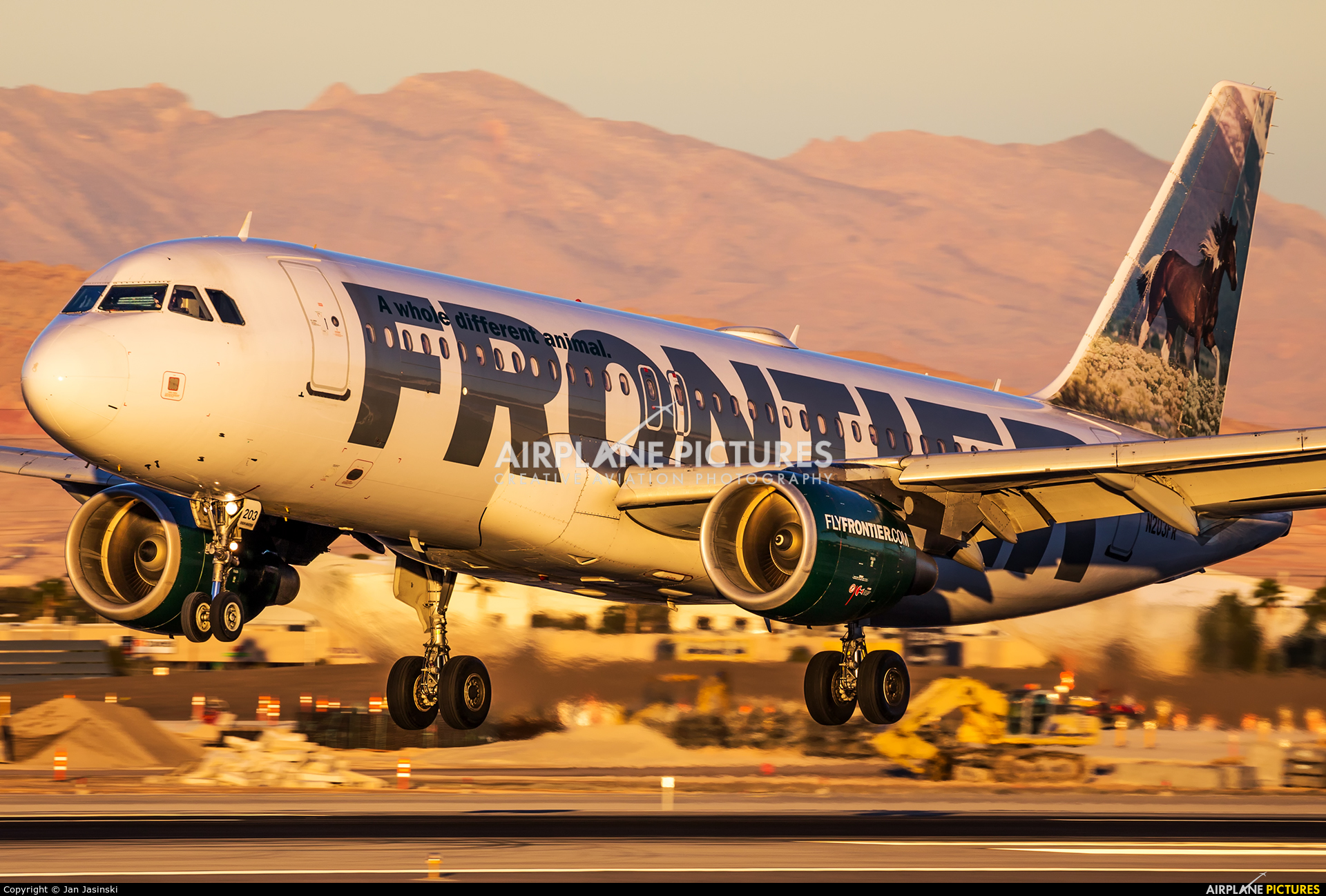 Frontier Airlines N203FR aircraft at Las Vegas - McCarran Intl