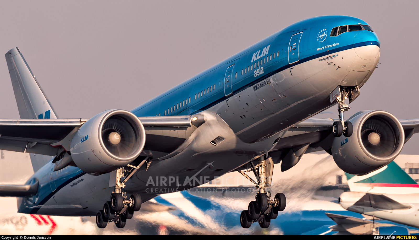 KLM Asia PH-BQK aircraft at Amsterdam - Schiphol