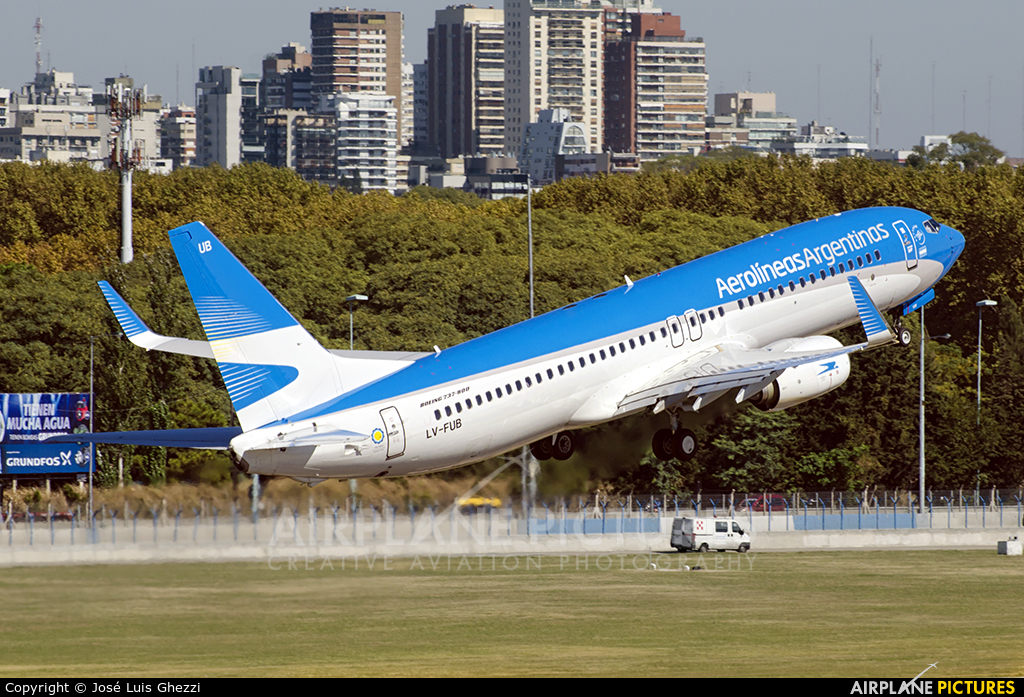 Aerolineas Argentinas LV-FUB aircraft at Buenos Aires - Jorge Newbery