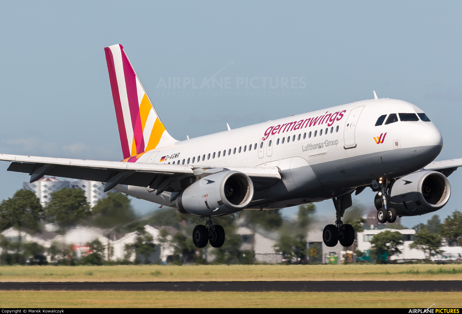 Germanwings D-AGWR aircraft at Amsterdam - Schiphol