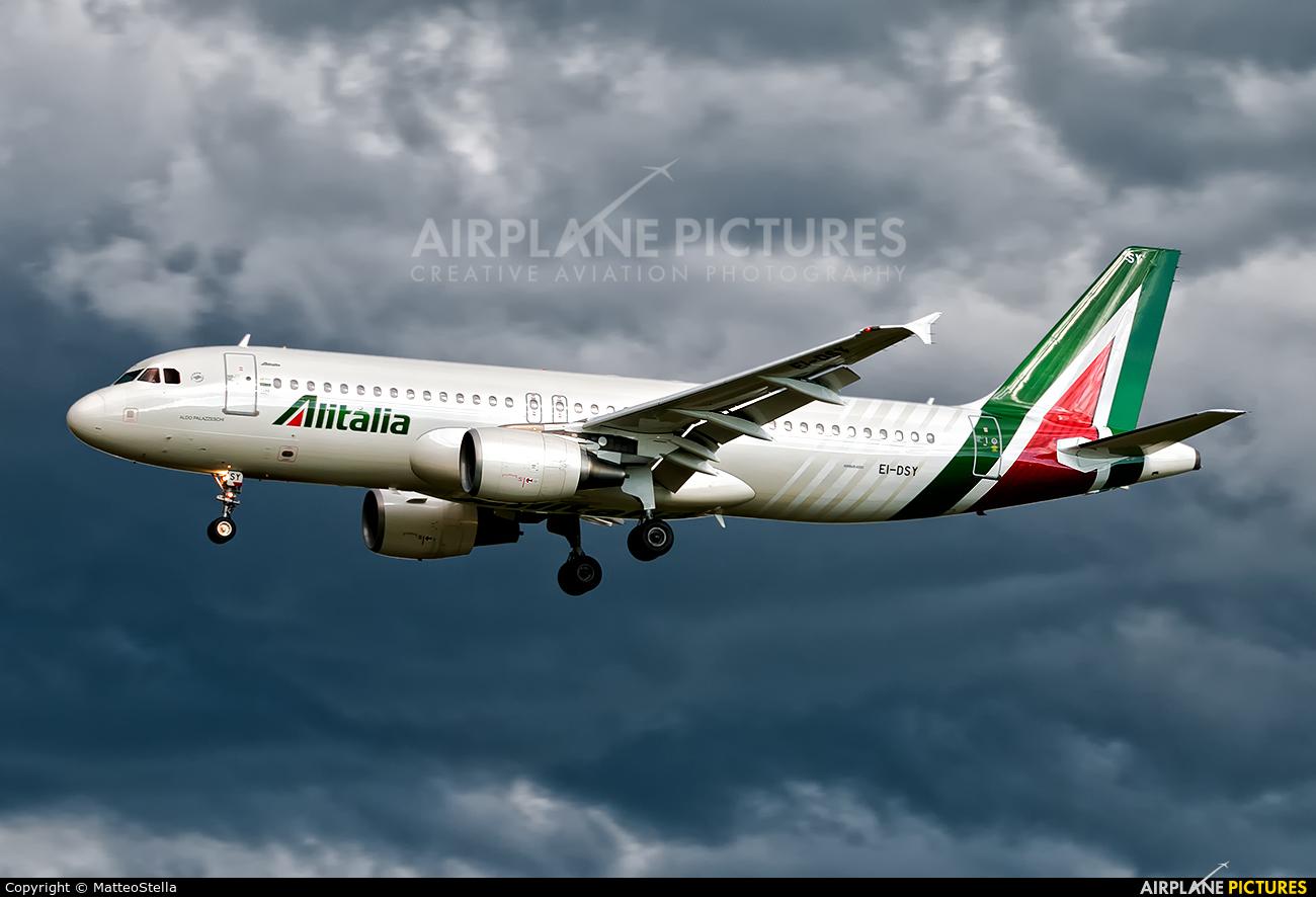 Alitalia EI-DSY aircraft at Milan - Linate