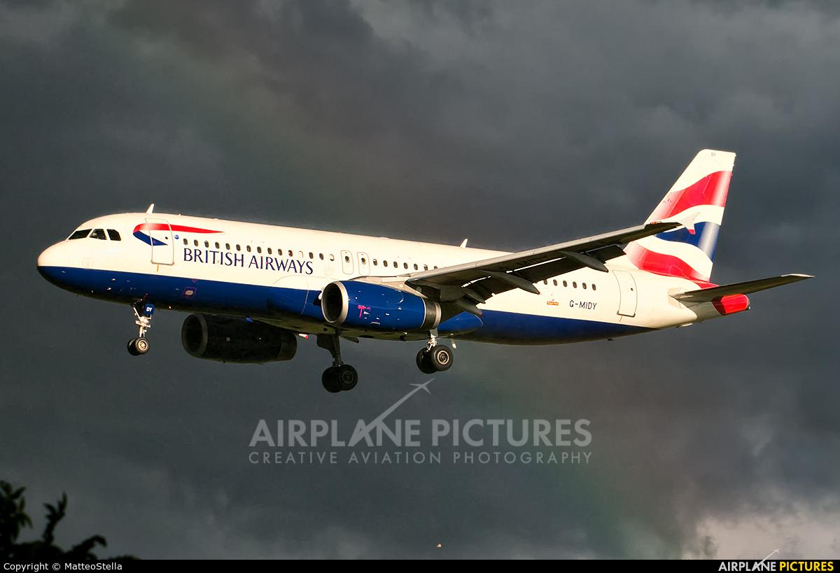British Airways G-MIDY aircraft at Milan - Linate