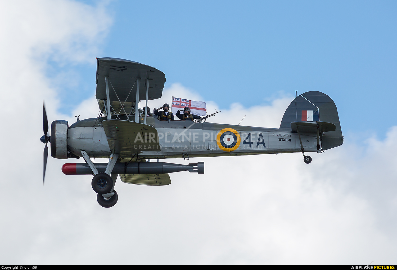 """Royal Navy """"Historic Flight"""" W5856 aircraft at Culdrose"""