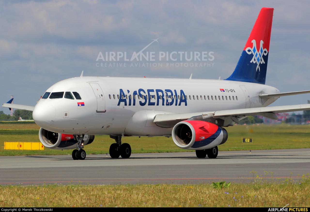 Air Serbia YU-APA aircraft at Warsaw - Frederic Chopin