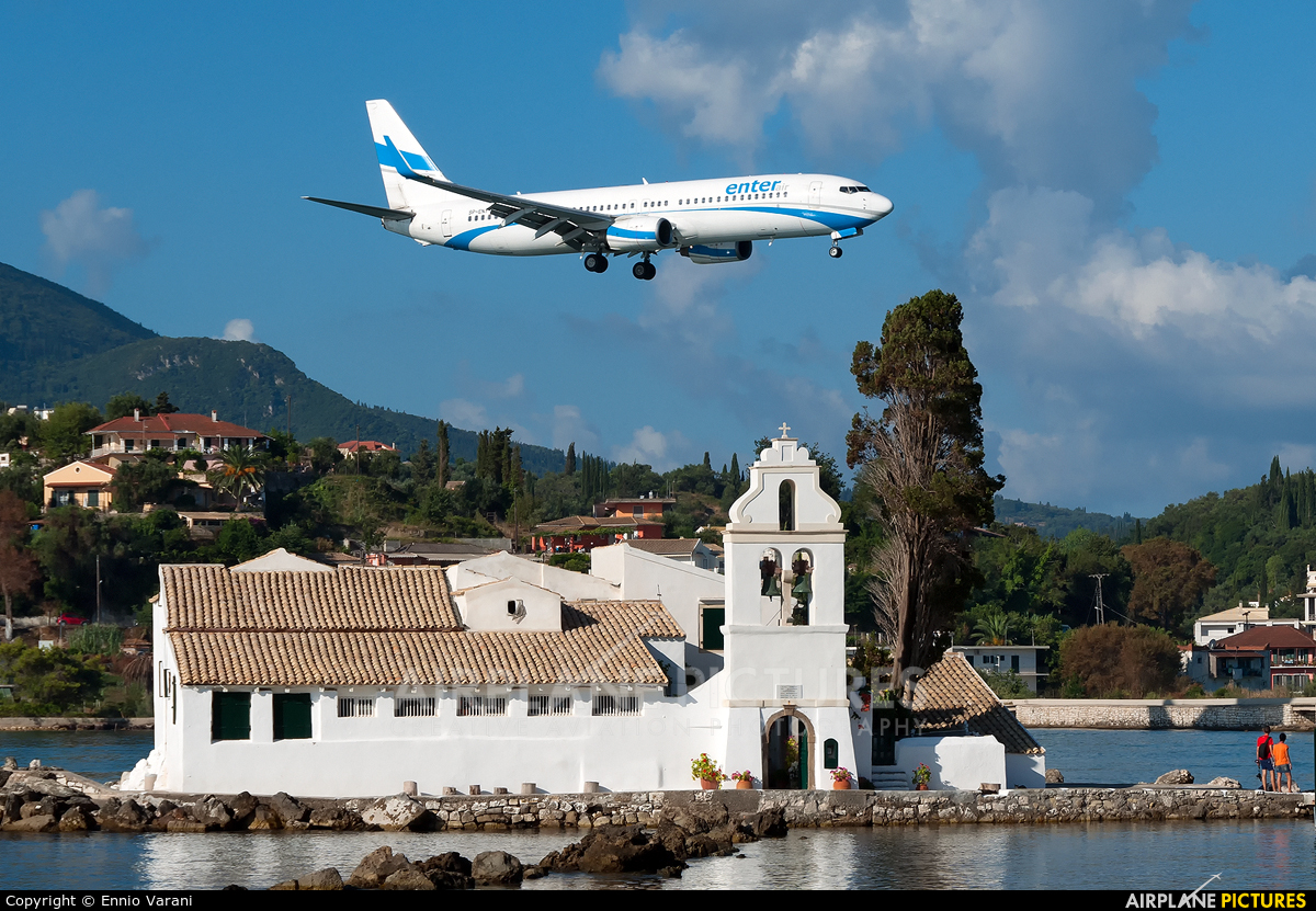 Enter Air SP-ENY aircraft at Corfu - Ioannis Kapodistrias
