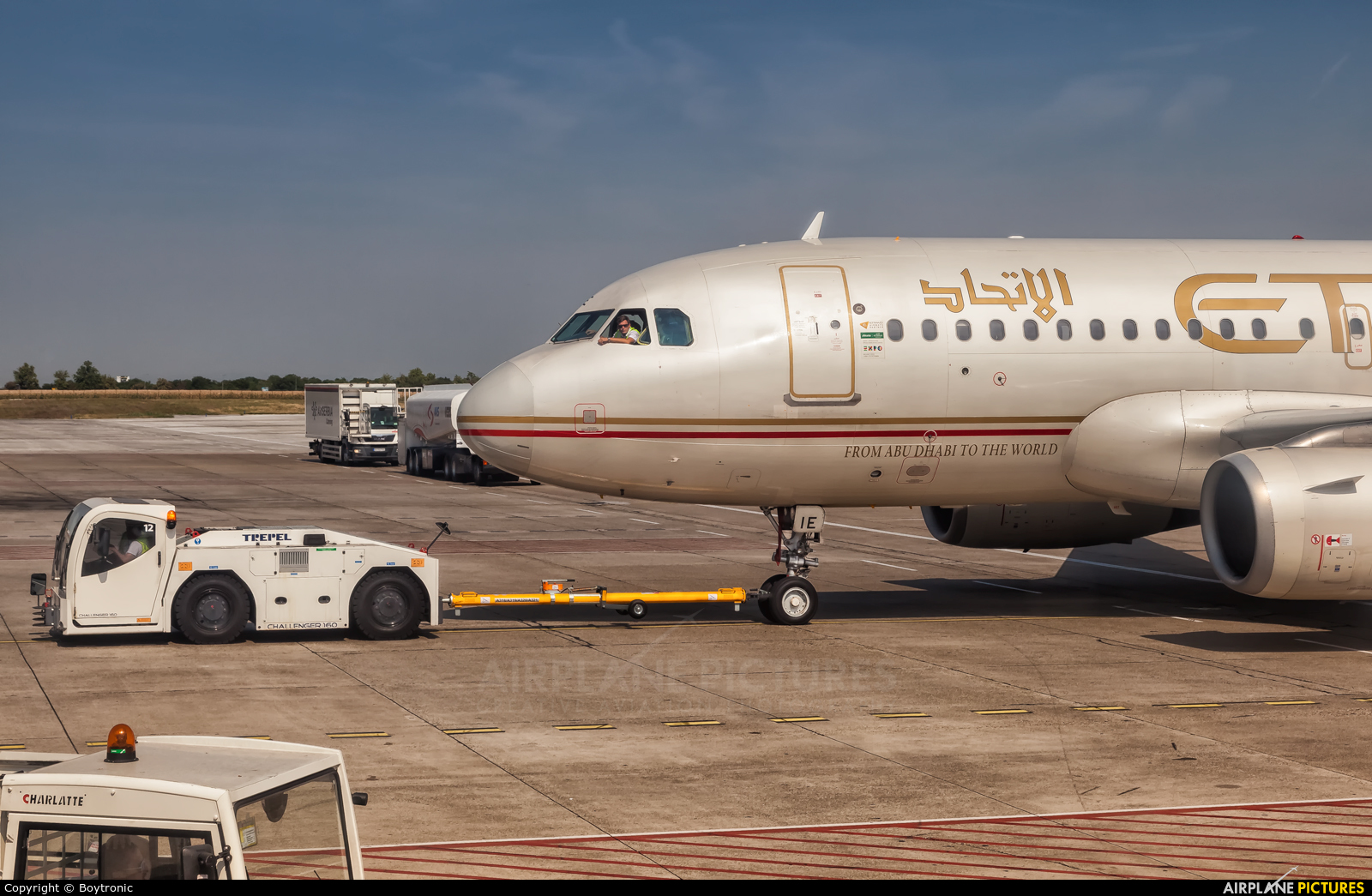 Etihad Airways A6-EIE aircraft at Belgrade - Nikola Tesla Intl