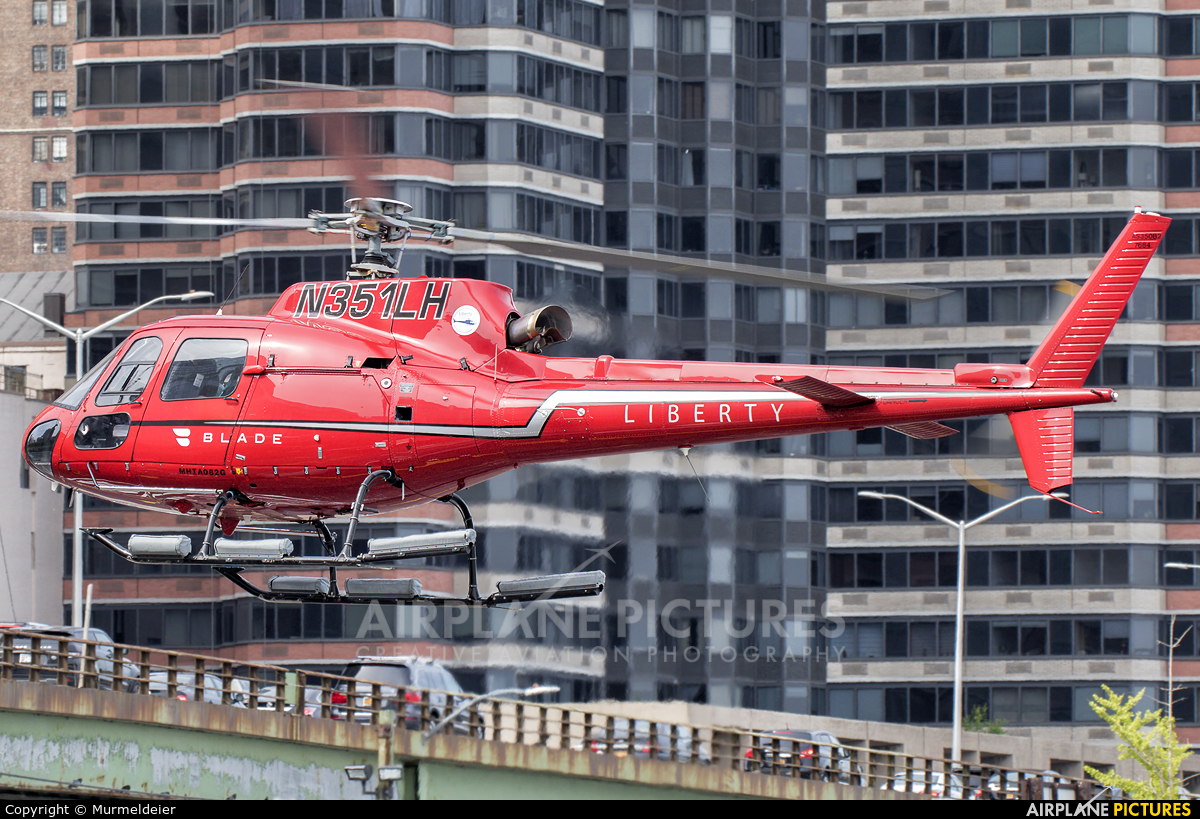 Liberty Helicopters N351LH aircraft at East 34th Street Heliport