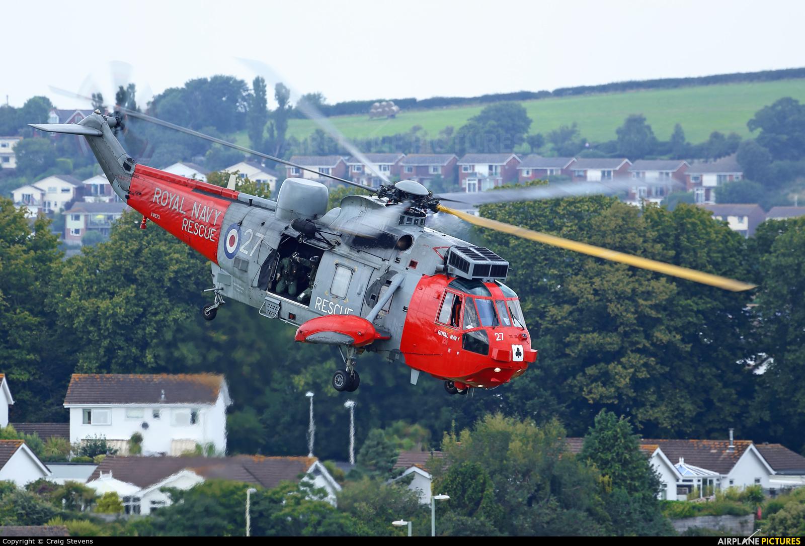 Royal Navy XV673 aircraft at Dawlish