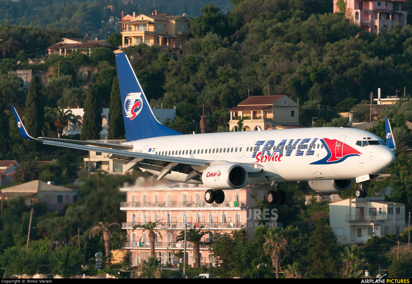Travel Service HA-LKG aircraft at Corfu - Ioannis Kapodistrias