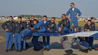 """- - Italy - Air Force """"Frecce Tricolori"""" - Airport Overview - People, Pilot"""