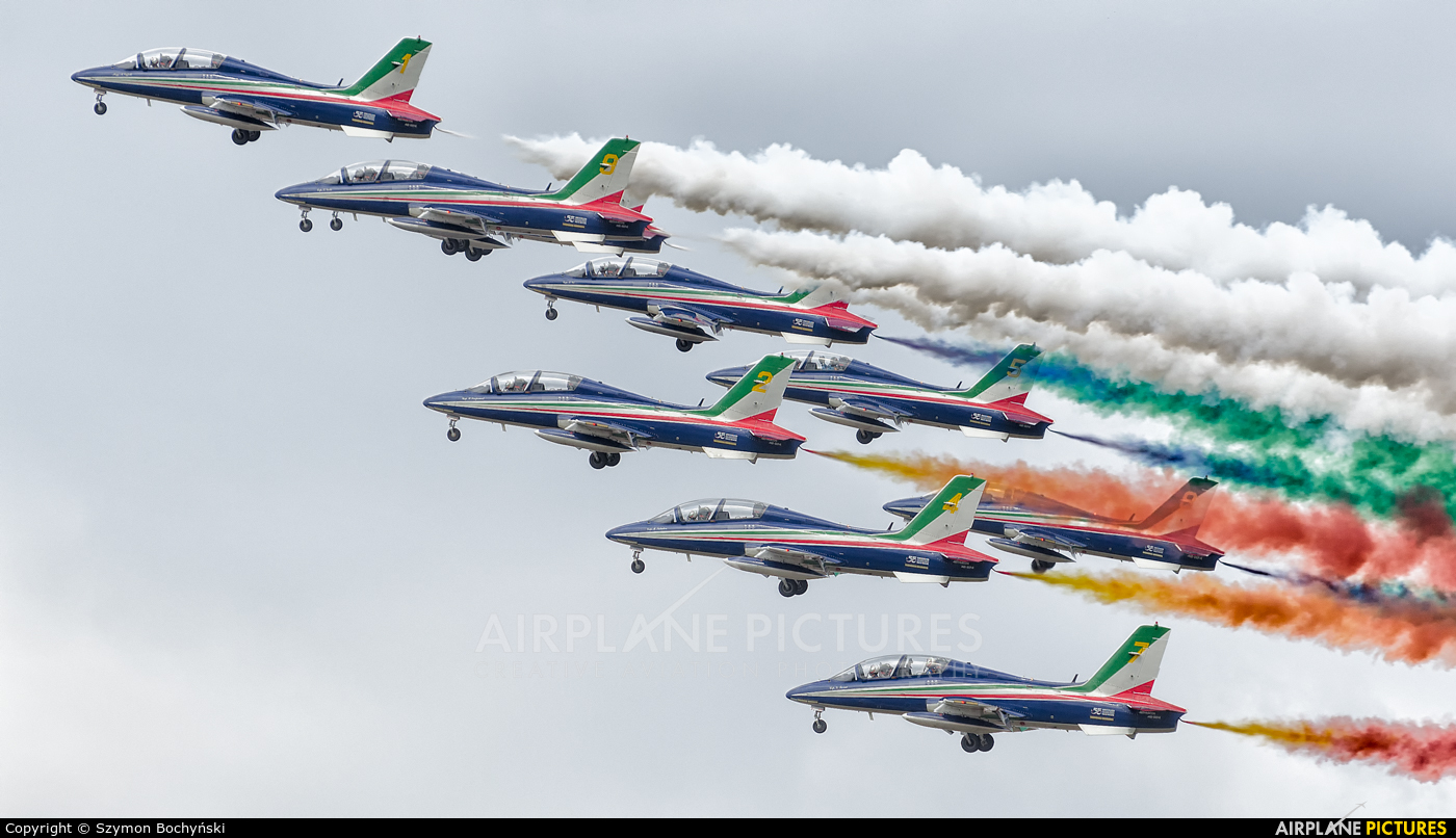 "Italy - Air Force ""Frecce Tricolori"" 1 aircraft at Radom - Sadków"