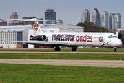 """Travel Rock"" special livery on Andes Lineas Aereas MD-83 title="