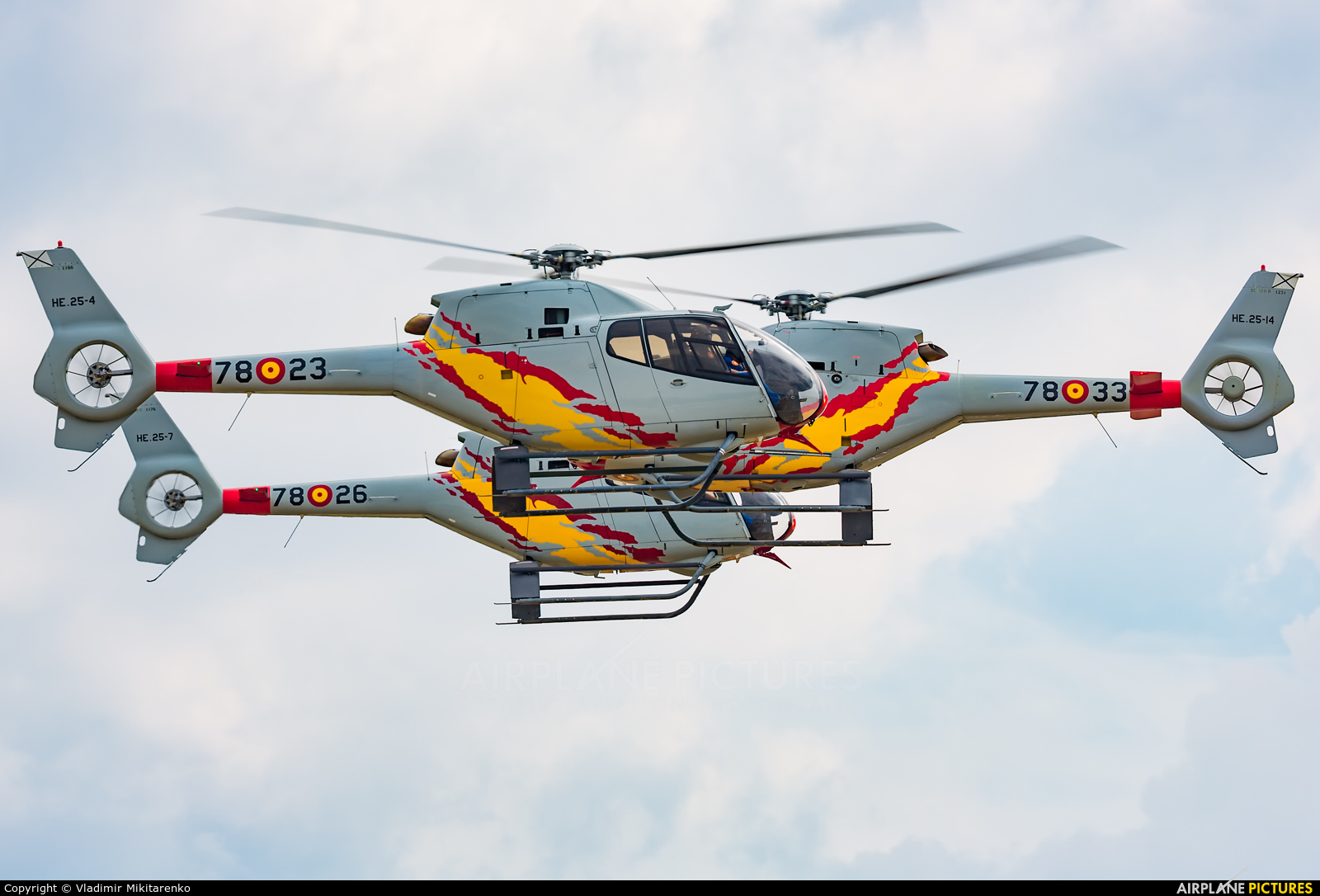 Spain - Air Force: Patrulla ASPA HE.25-4 aircraft at Radom - Sadków