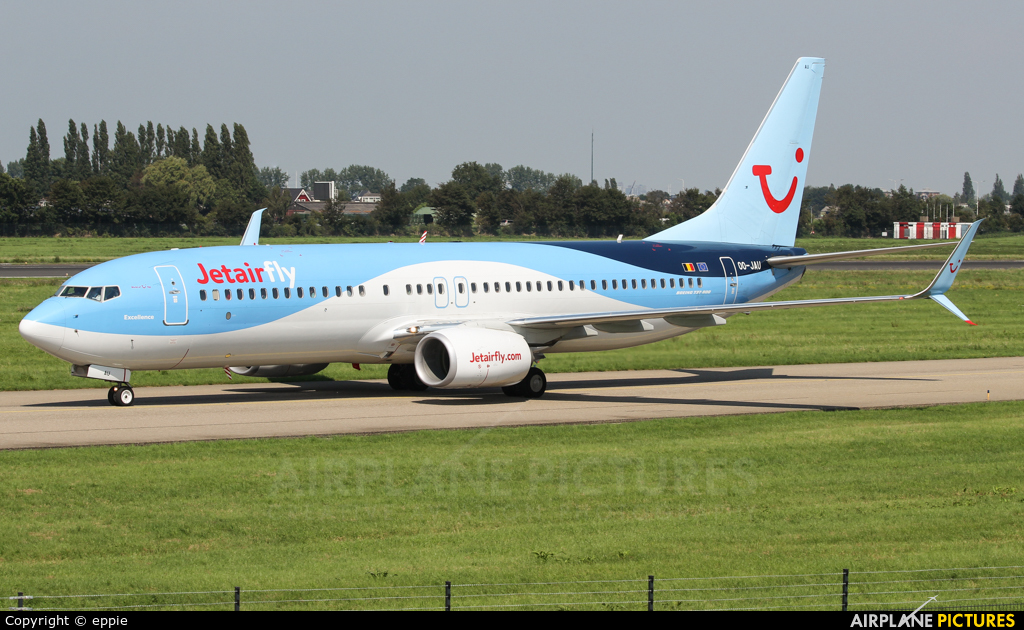 Jetairfly (TUI Airlines Belgium) OO-JAU aircraft at Rotterdam