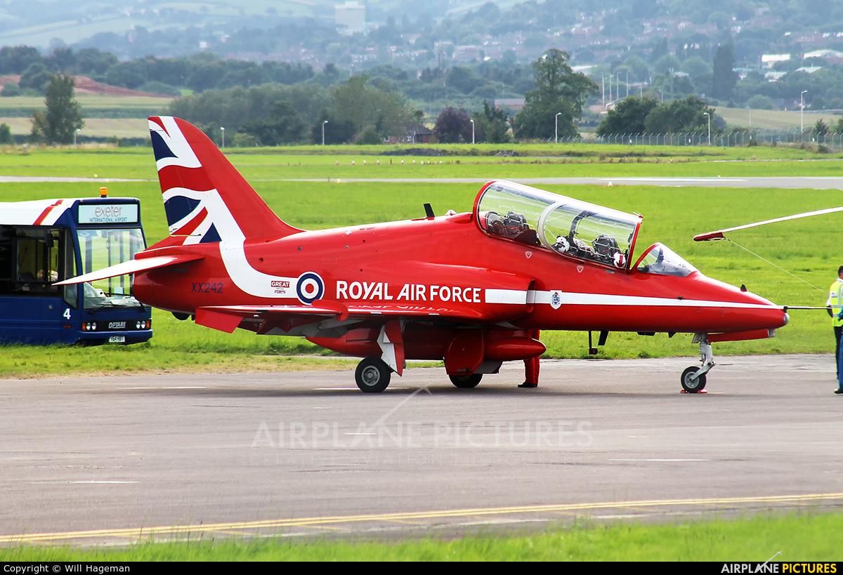 "Royal Air Force ""Red Arrows"" XX242 aircraft at Exeter"