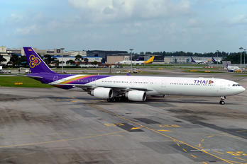 HS-TNC - Thai Airways Airbus A340-600