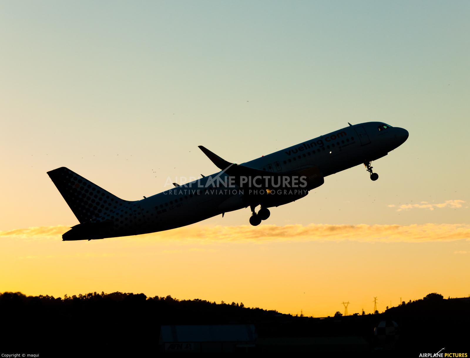 Vueling Airlines EC-MBT aircraft at La Coruña