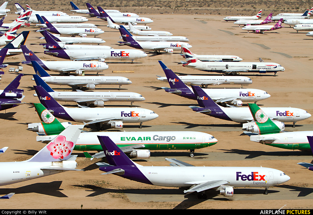 FedEx Federal Express N720FD aircraft at Victorville - Southern California Logistics