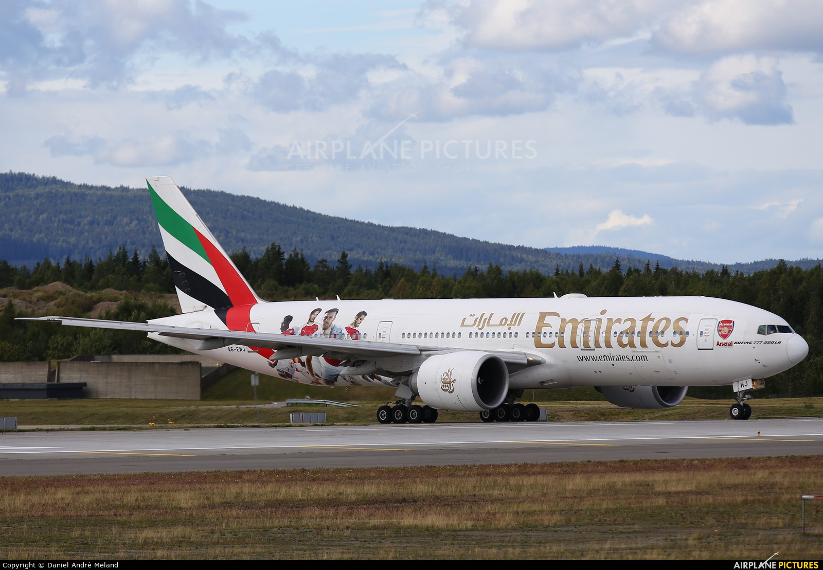 Emirates Airlines A6-EWJ aircraft at Oslo - Gardermoen