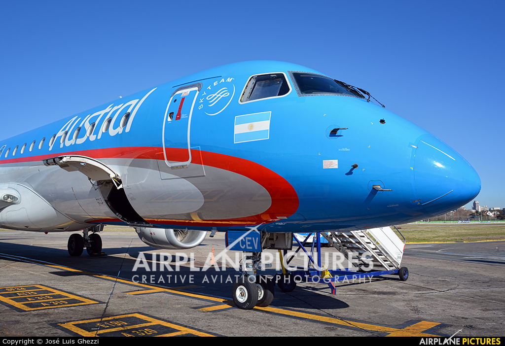 Austral Lineas Aereas LV-CEV aircraft at Buenos Aires - Jorge Newbery