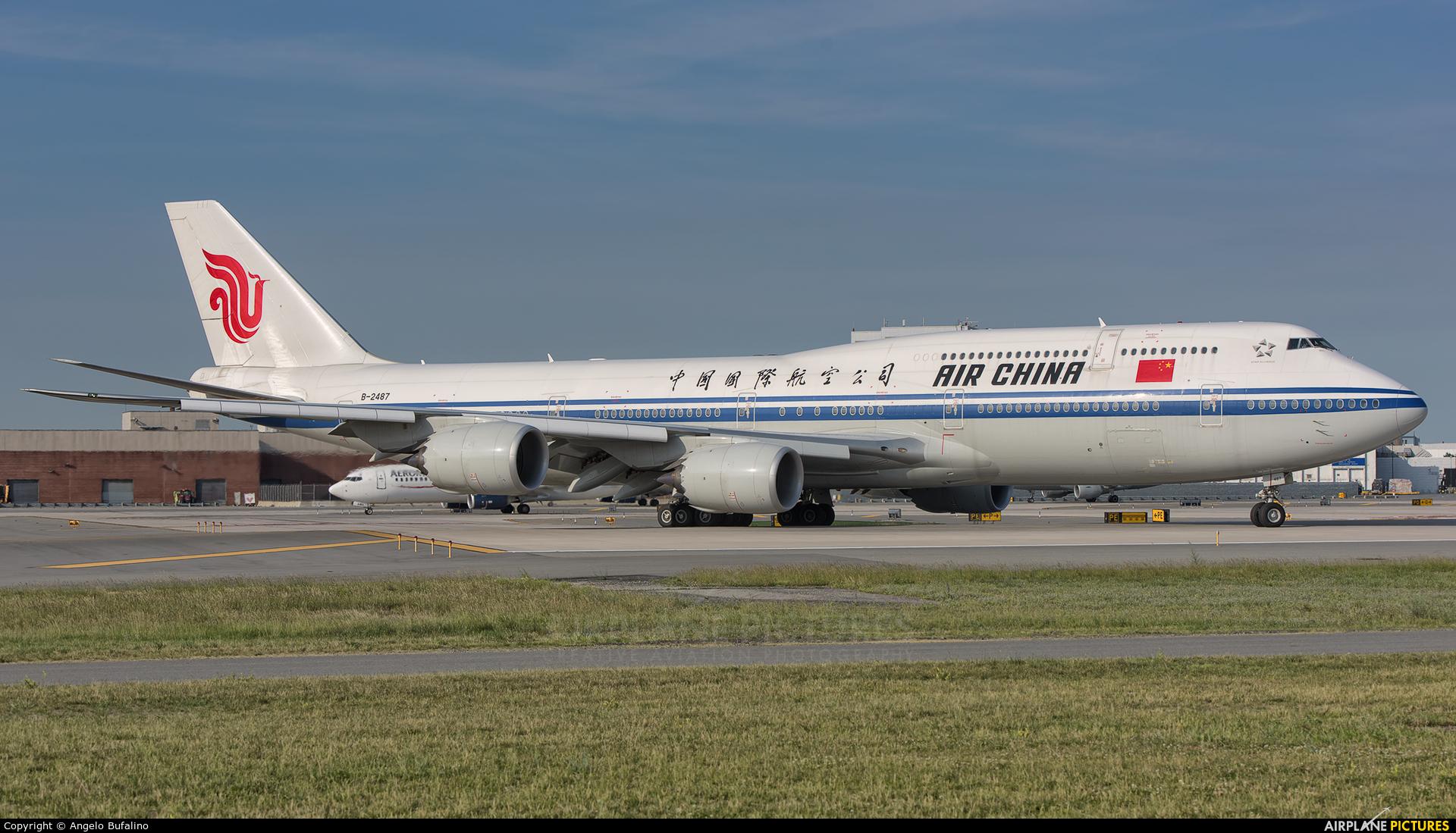 Air China B-2487 aircraft at New York - John F. Kennedy Intl