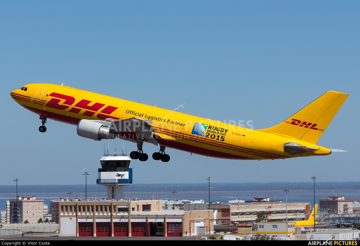 DHL Cargo D-AEAC aircraft at Lisbon