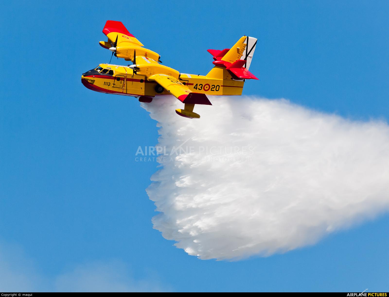 Spain - Air Force UD.13-20 aircraft at La Coruña - Off Airport
