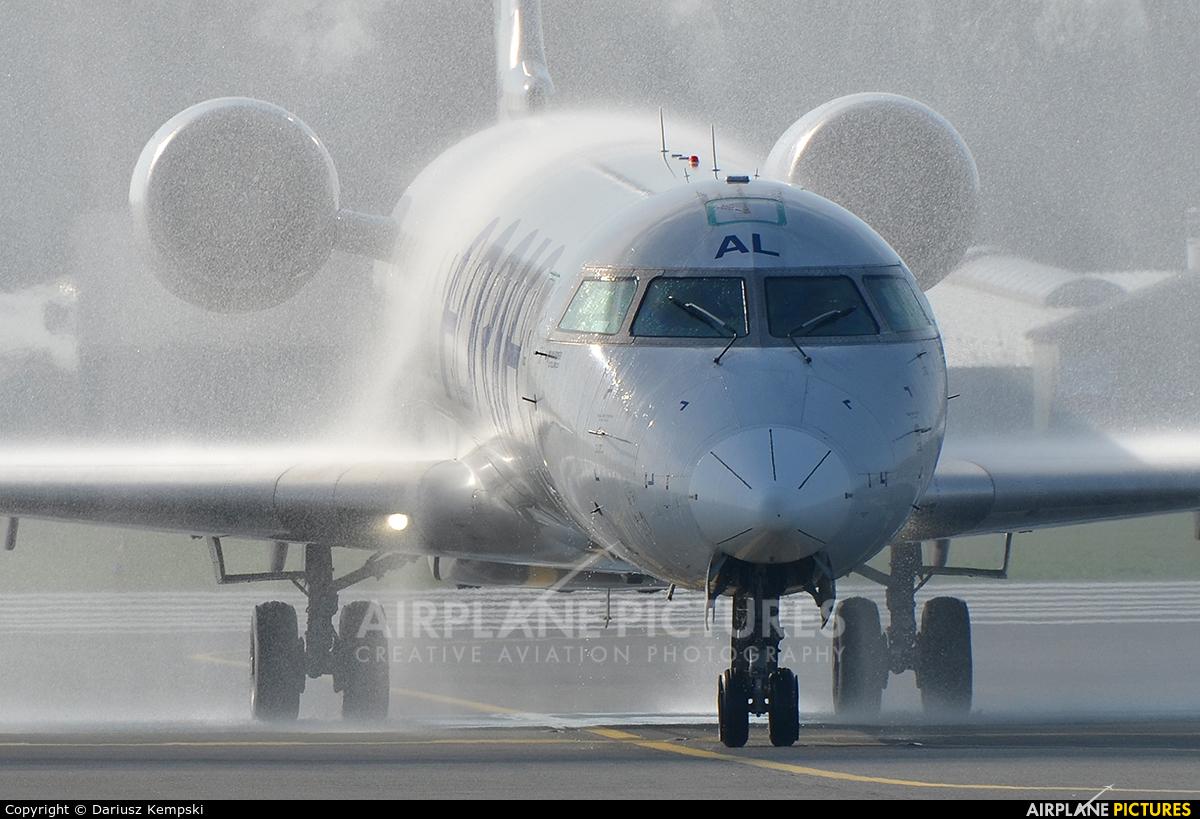 Adria Airways S5-AAL aircraft at Łódź - Lublinek