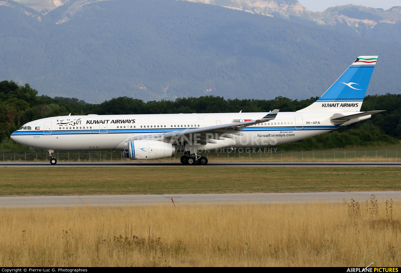 Kuwait Airways 9K-APA aircraft at Geneva Intl
