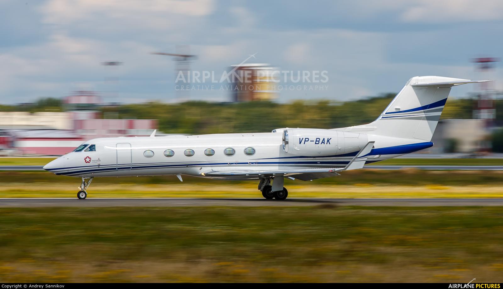 Meridian Air VP-BAK aircraft at Koltsovo - Ekaterinburg