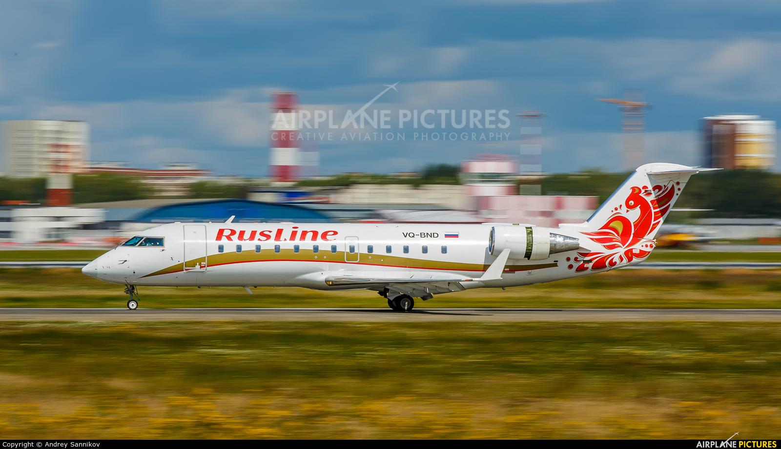 Rusline VQ-BND aircraft at Koltsovo - Ekaterinburg