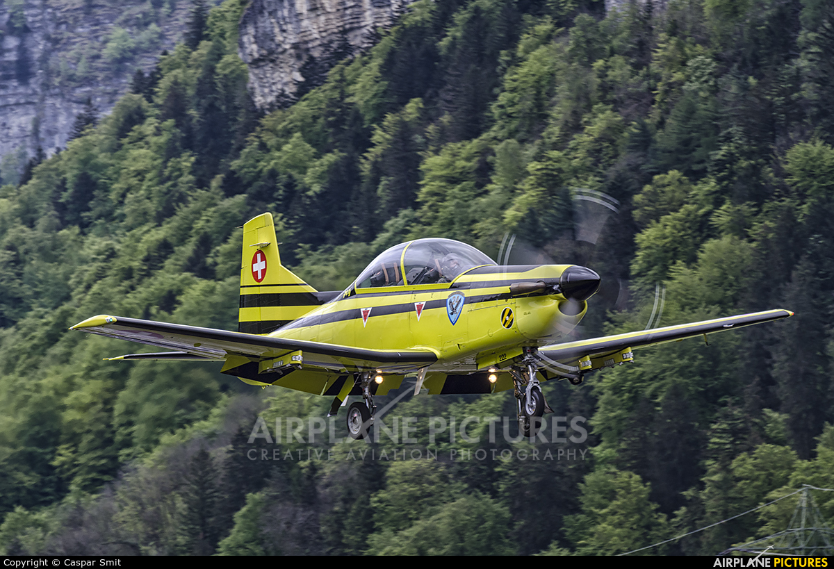 Switzerland - Air Force C-410 aircraft at Meiringen