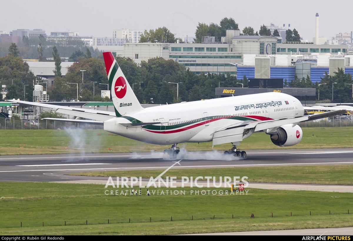 Biman Bangladesh S2-AHL aircraft at London - Heathrow
