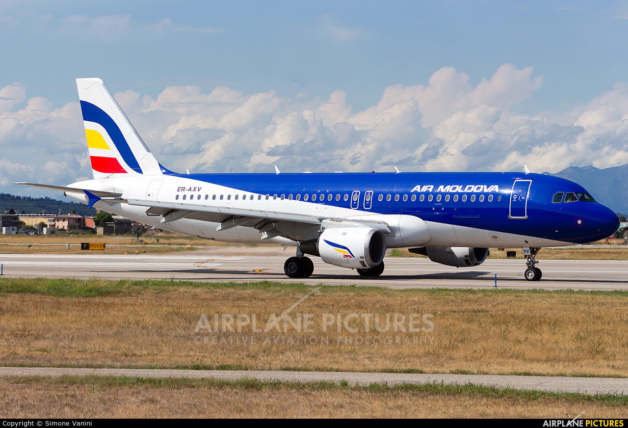 Air Moldova ER-AXV aircraft at Verona - Villafranca