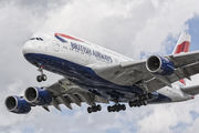 G-XLEE - British Airways Airbus A380 aircraft