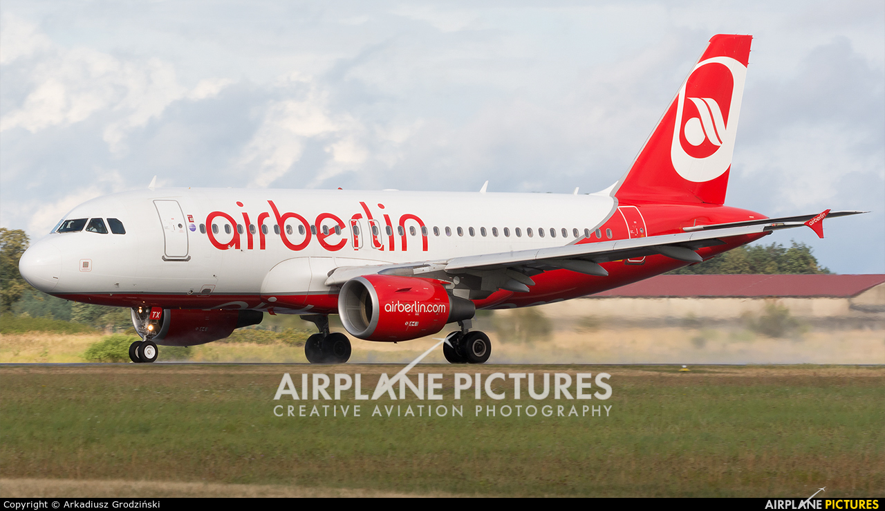 Air Berlin D-ASTX aircraft at Heringsdorf