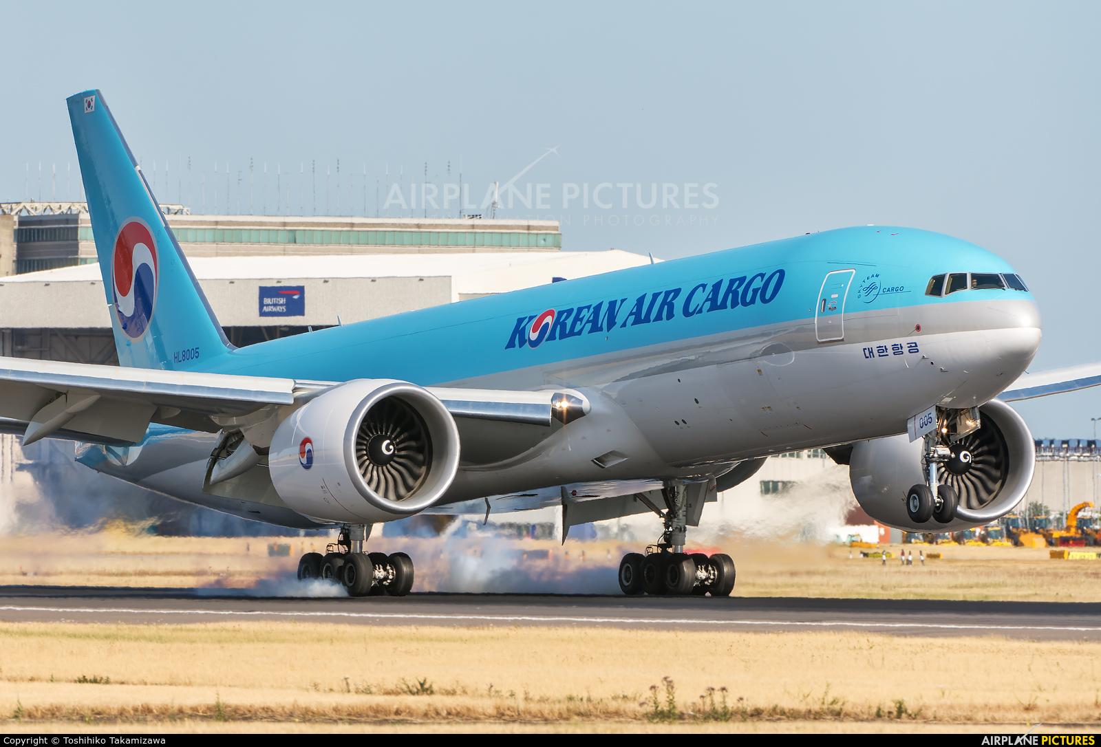 Korean Air Cargo HL8005 aircraft at London - Heathrow