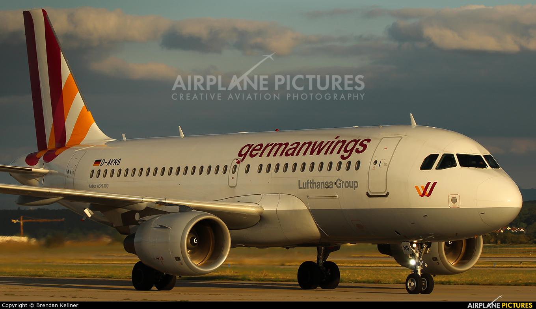 Germanwings D-AKNS aircraft at Stuttgart