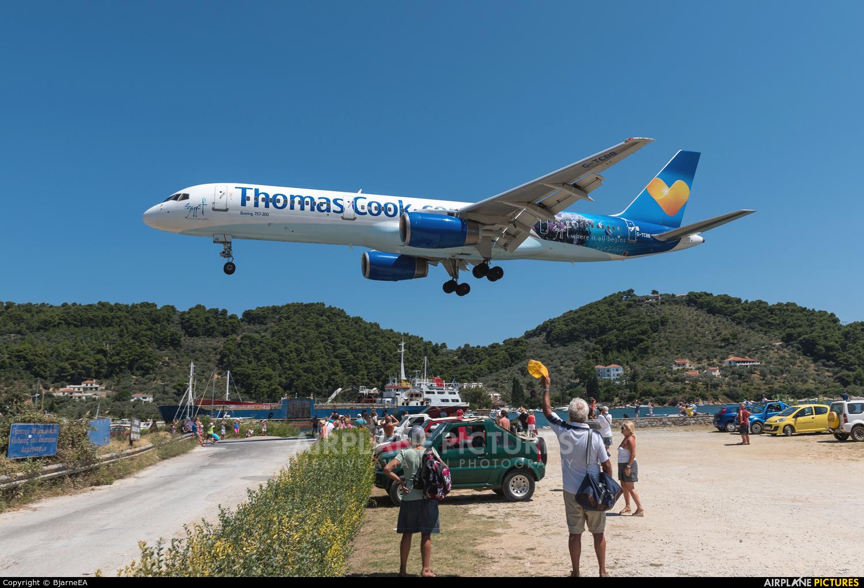 Thomas Cook G-TCBB aircraft at Skiathos