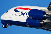 G-XLEG - British Airways Airbus A380 aircraft
