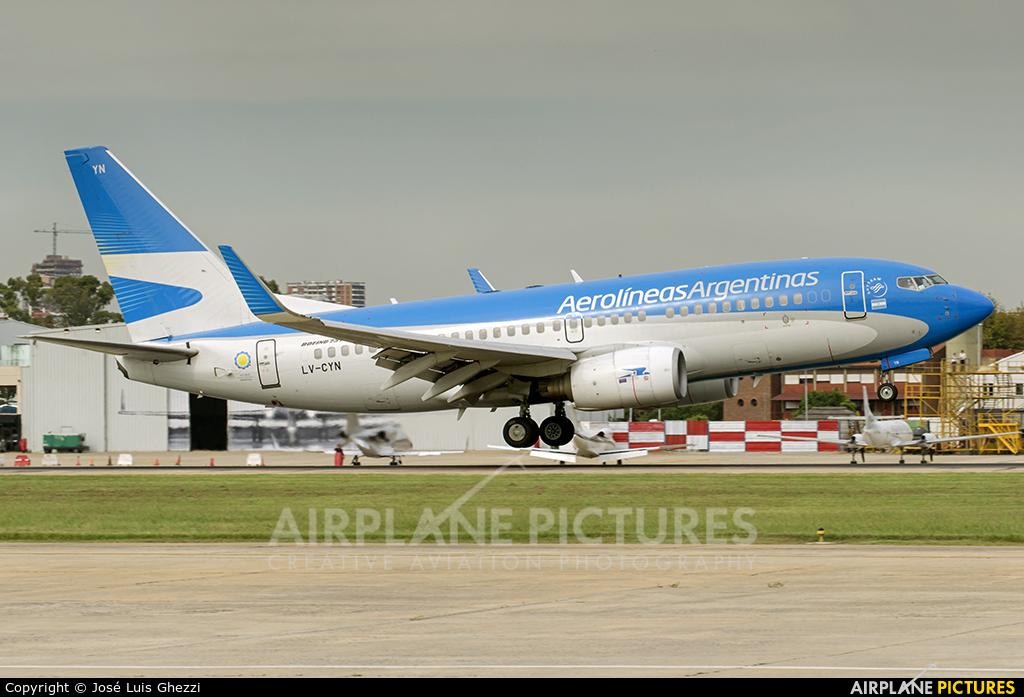 Aerolineas Argentinas LV-CYN aircraft at Buenos Aires - Jorge Newbery
