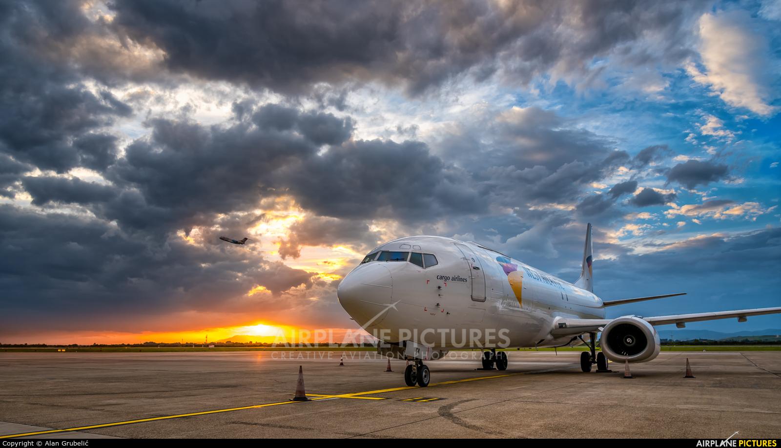 West Atlantic G-JMCR aircraft at Zagreb
