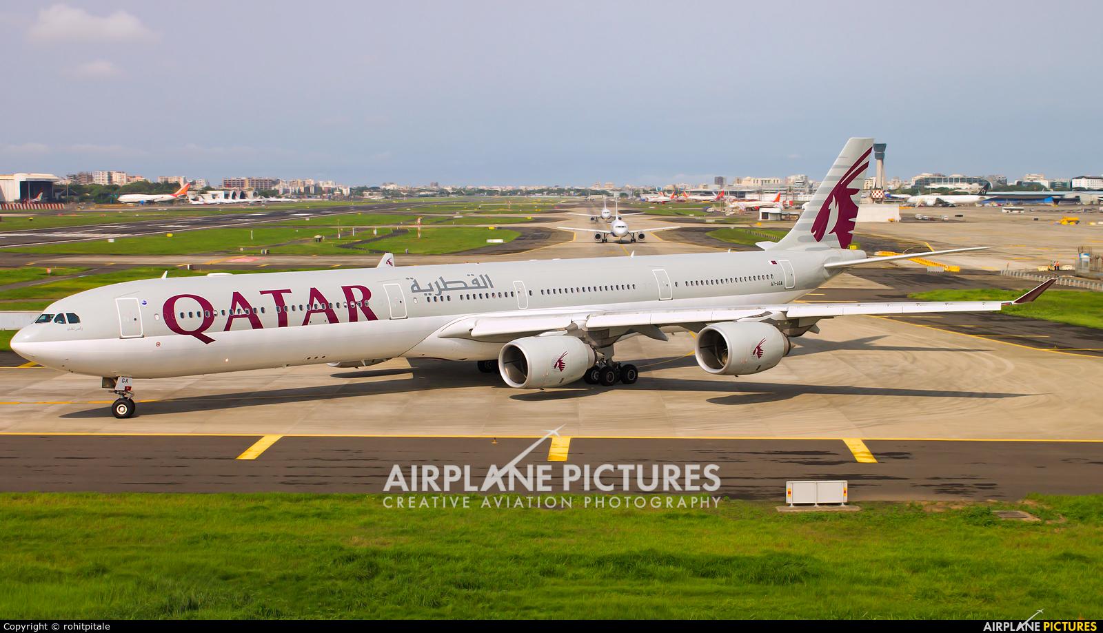 Qatar Airways A7-AGA aircraft at Mumbai - Chhatrapati Shivaji Intl
