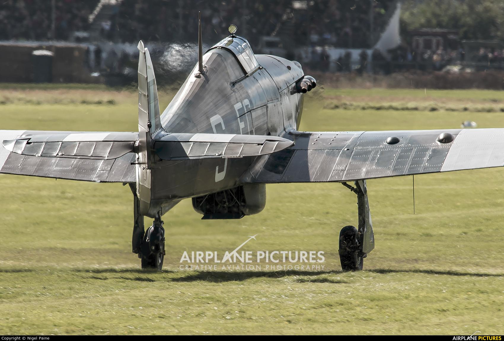 "Royal Air Force ""Battle of Britain Memorial Flight"" PZ865 aircraft at Chichister / Goodwood"