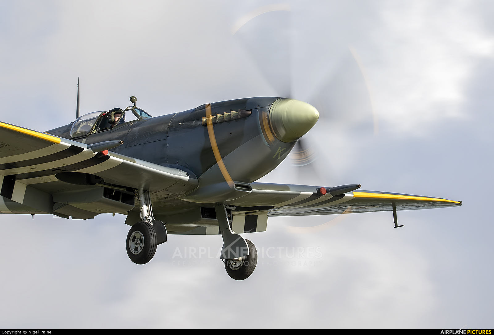 "Royal Air Force ""Battle of Britain Memorial Flight&quot MK356 aircraft at Chichister / Goodwood"