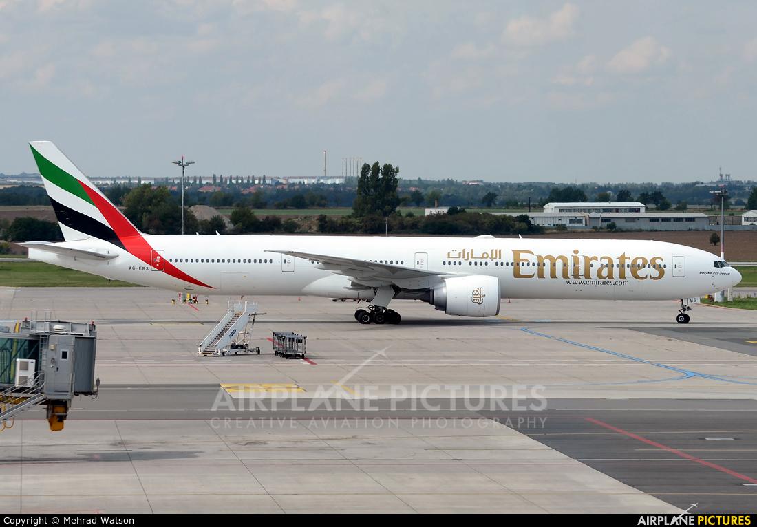Emirates Airlines A6-EBS aircraft at Prague - Václav Havel