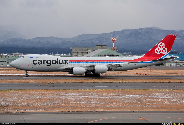 Cargolux LX-VCG aircraft at Komatsu