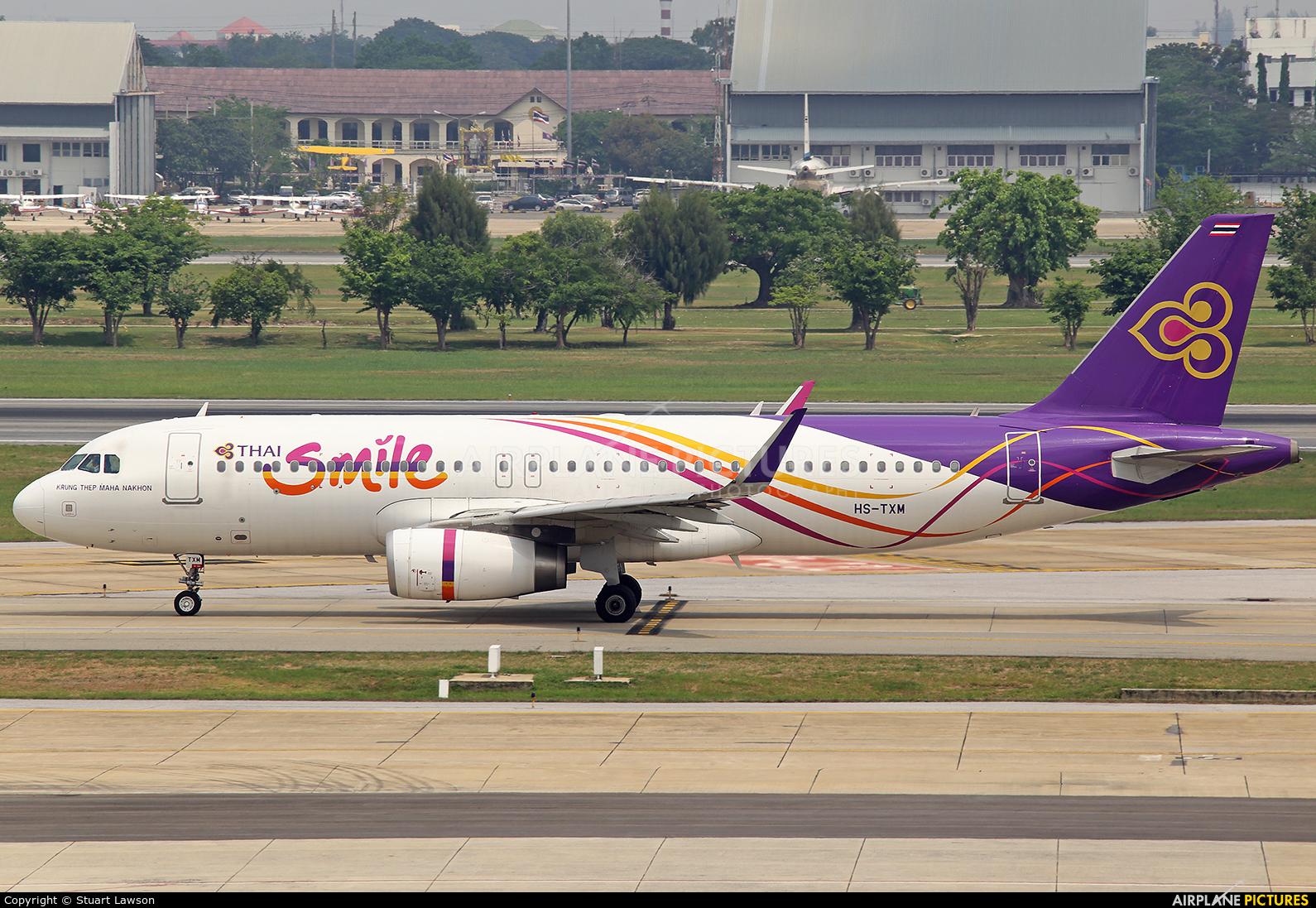 Thai Smile HS-TXM aircraft at Bangkok - Don Muang