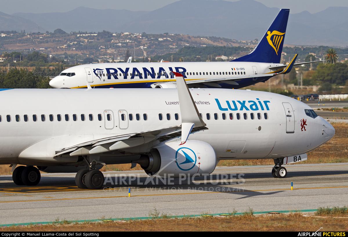 Luxair LX-LBA aircraft at Málaga