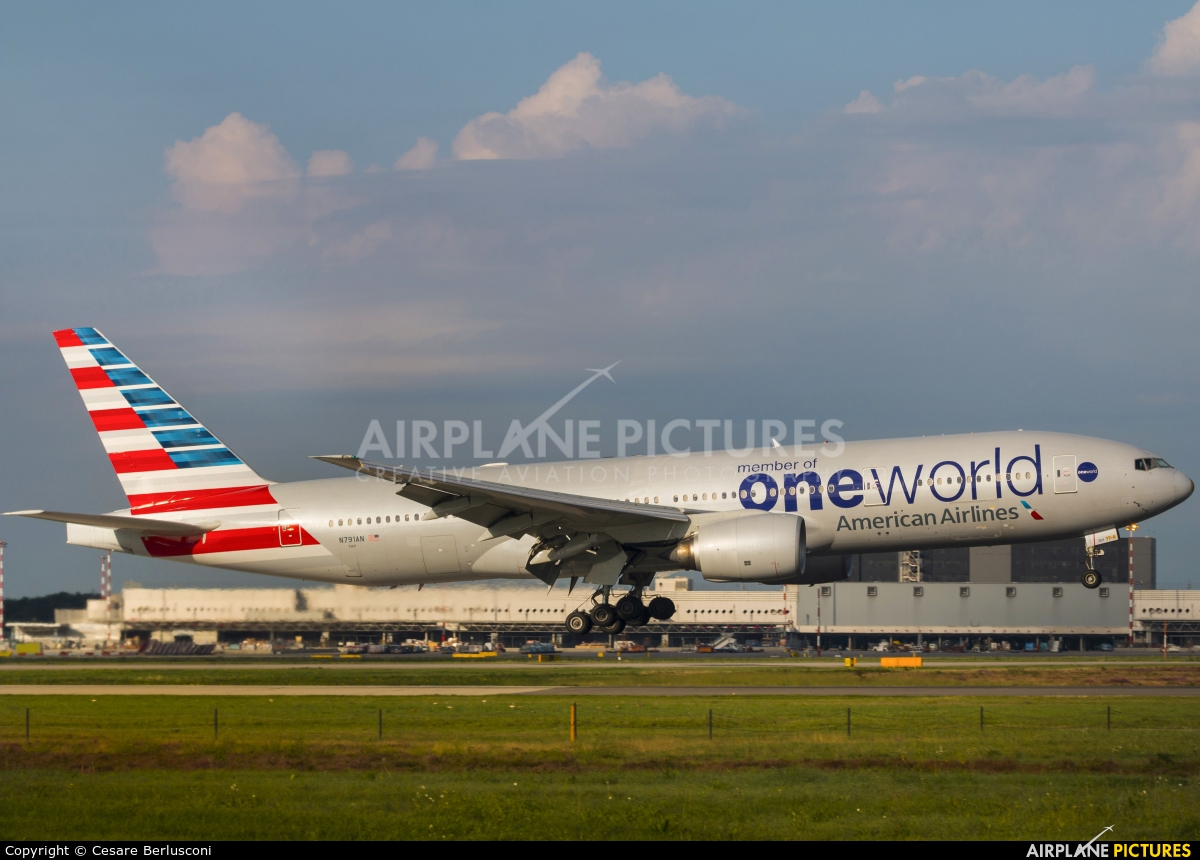 American Airlines N791AN aircraft at Milan - Malpensa